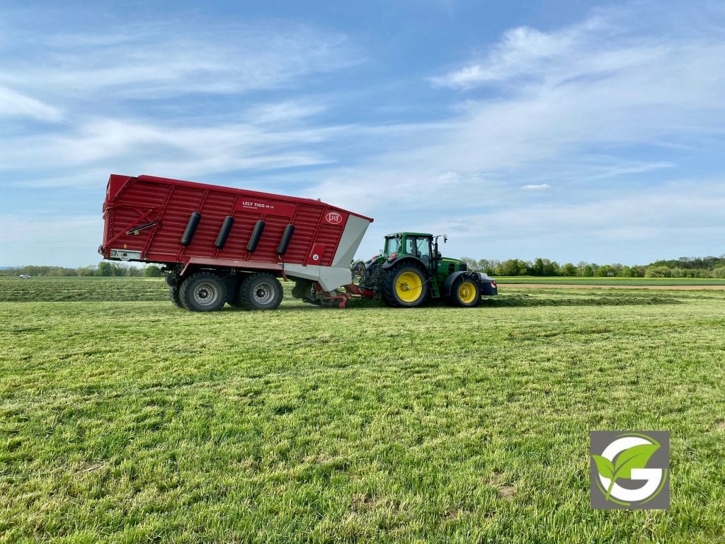 Lely loader wagons and John Deere with TerraCare central tire inflation system