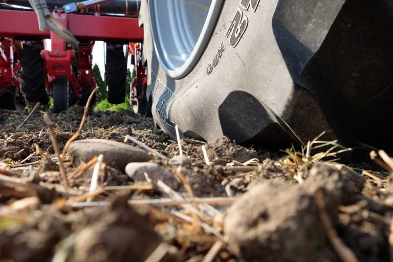 central tire inflation system for row crop tires